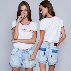 One Teaspoon Florence Chargers Shorts